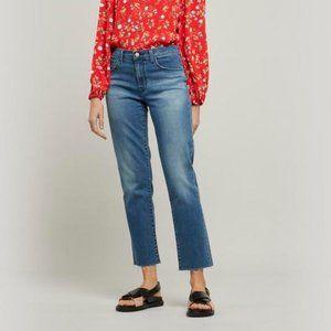 J BRAND Adele Mid-Rise Straight Leg Jeans 31
